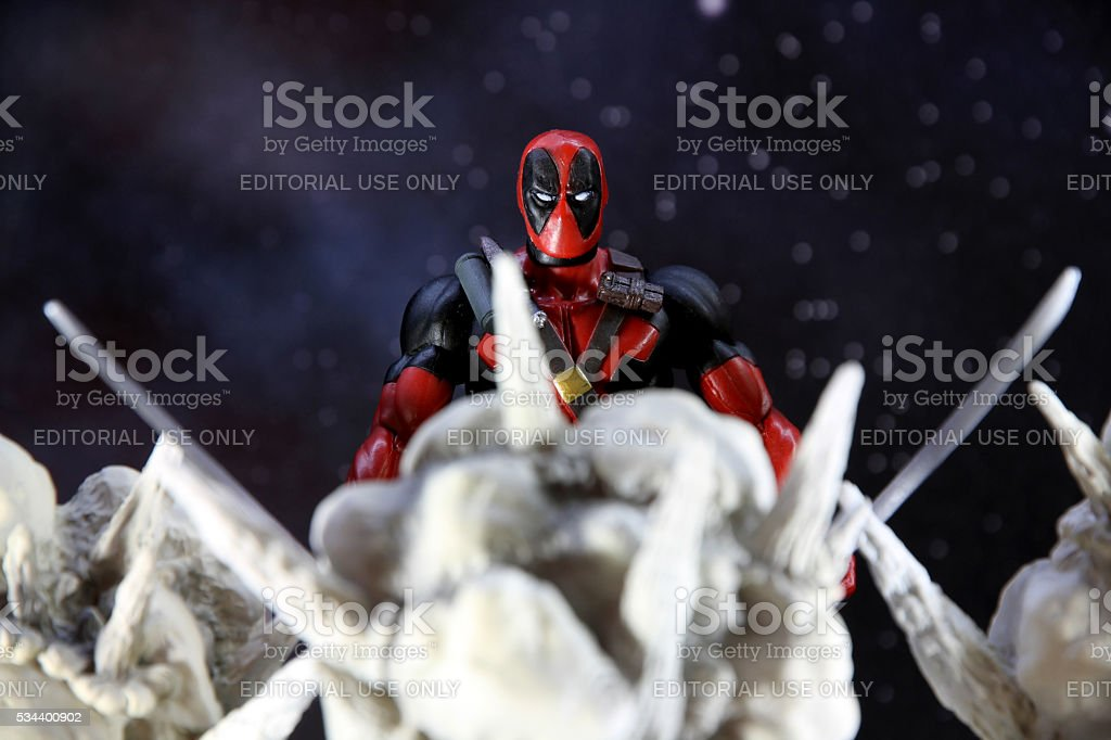 Deadpool and Explosions stock photo