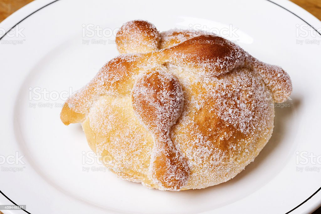 deads bread, mexican traditional food stock photo