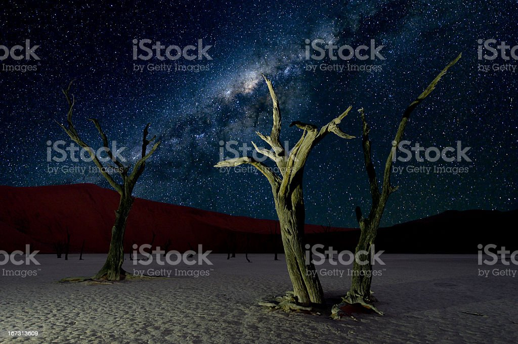 Deadvlei and the Milky Way stock photo