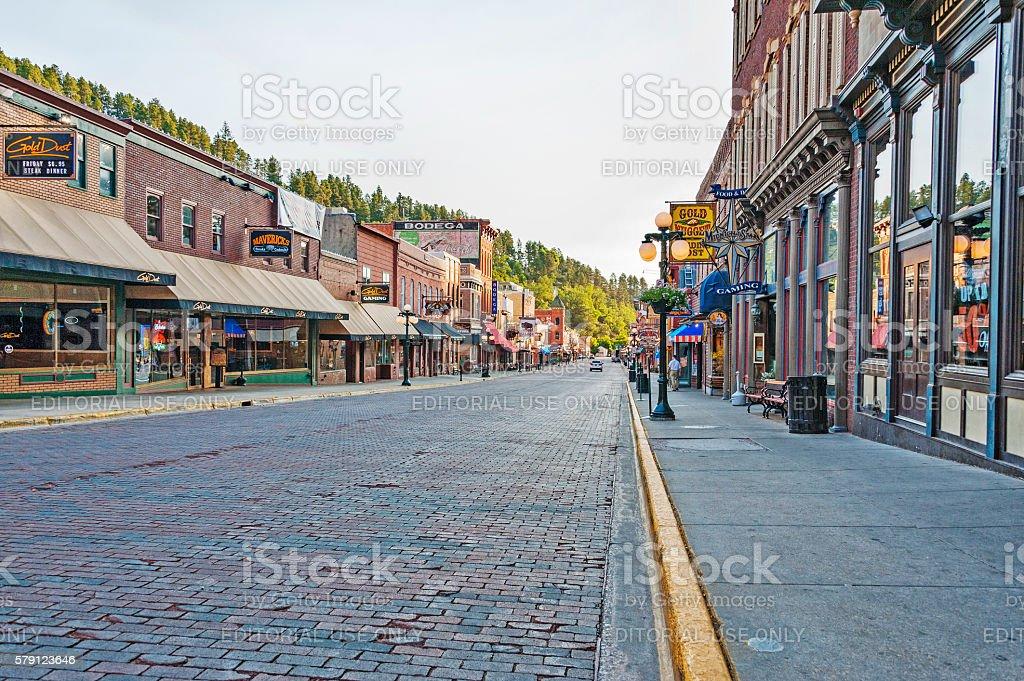 Deadwood South Dakota Historic Main Street stock photo