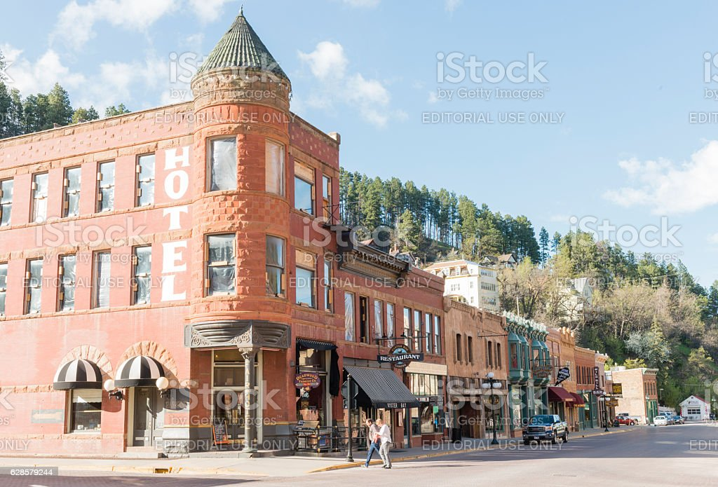Deadwood South Dakota Western Architecture Small Town American History USA stock photo