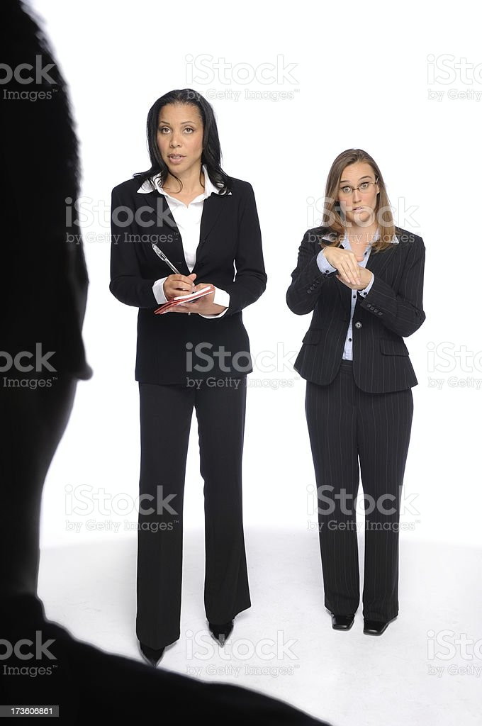 Deaf Interpreter royalty-free stock photo