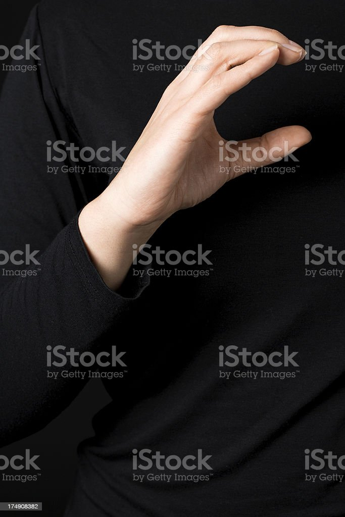 Deaf signs - letter C royalty-free stock photo