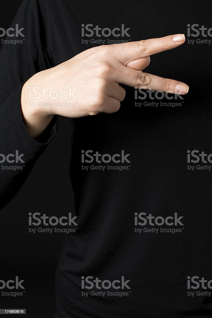 Deaf signs - letter K royalty-free stock photo