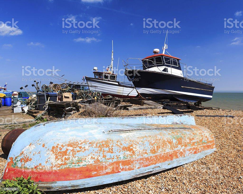 Deal Beach dans le Kent, en Angleterre photo libre de droits
