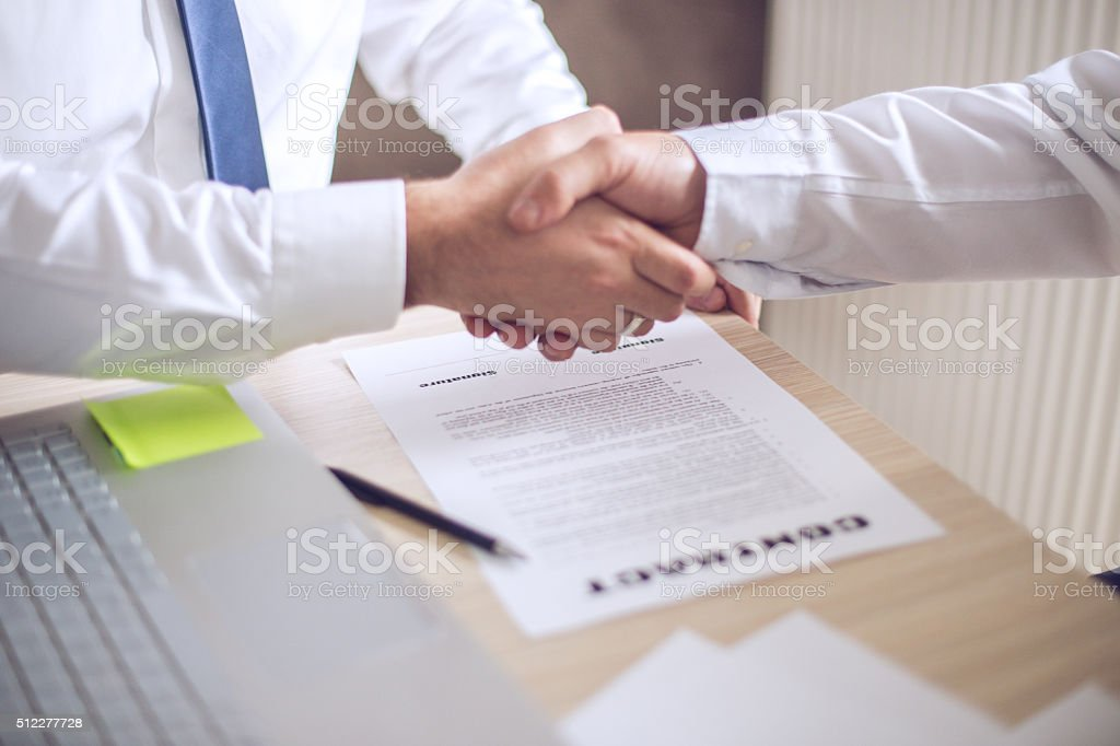 Deal closed stock photo