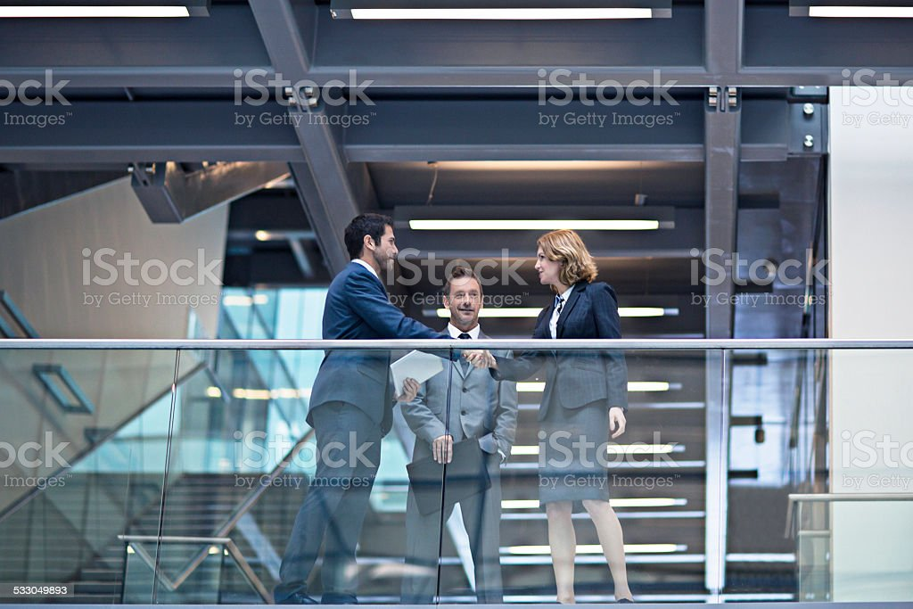 Deal done stock photo