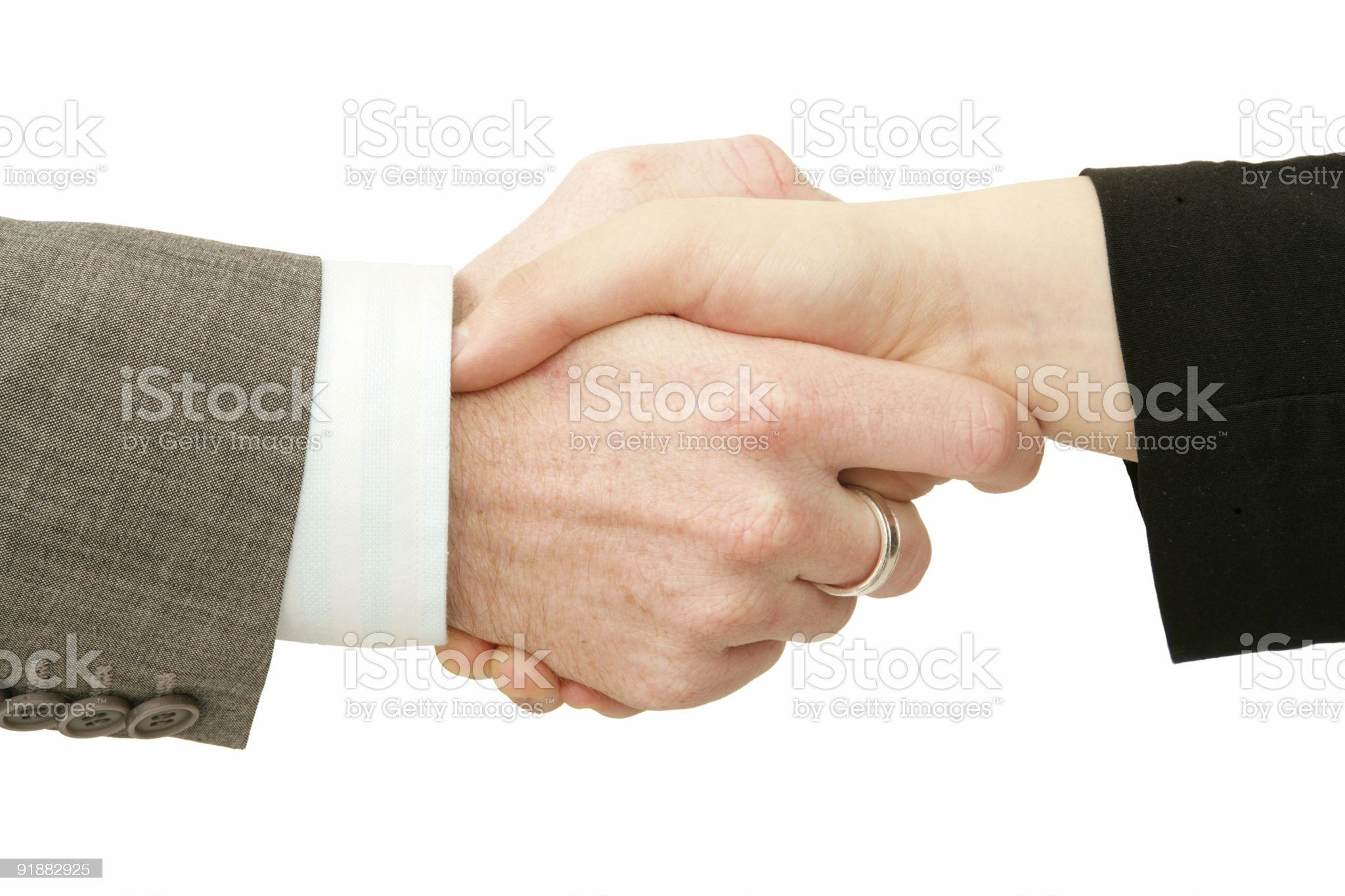 Deal Handshake royalty-free stock photo