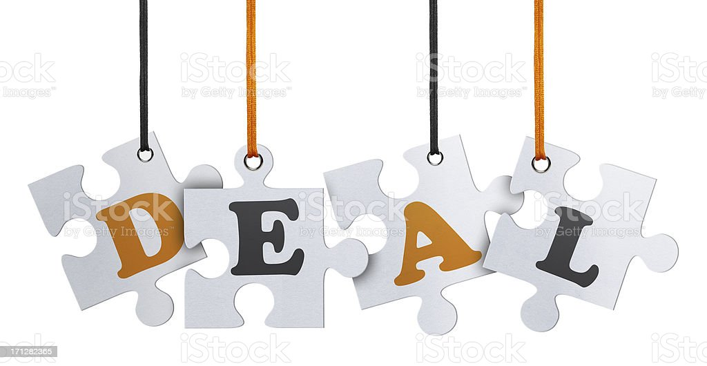 Deal, Jigsaw Puzzle (Clipping Path) royalty-free stock photo