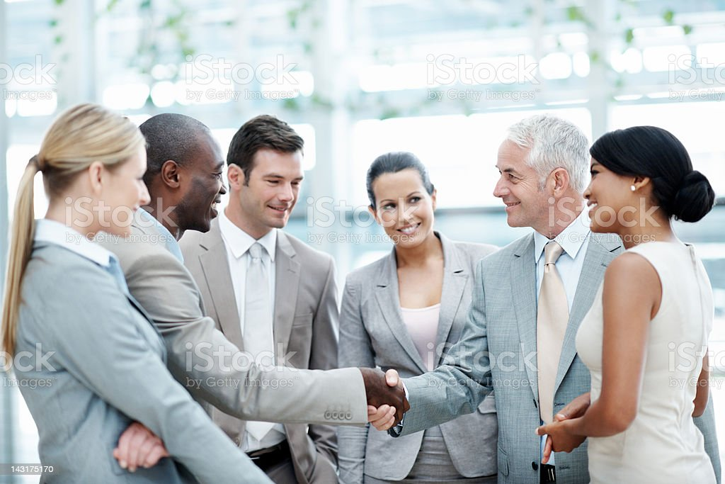 Deal makers royalty-free stock photo