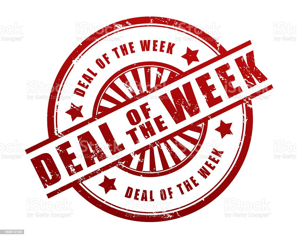 deal of the week stock photo