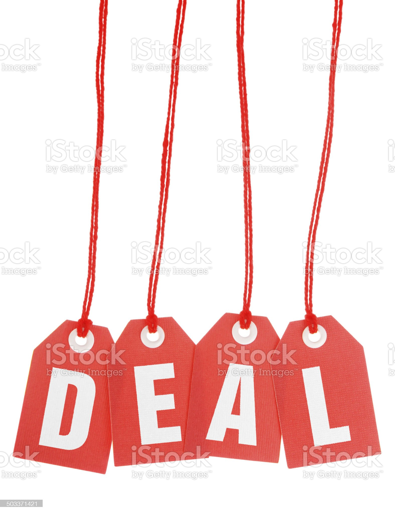 Deal - Stock Image of Isolated Red Hanging Tags royalty-free stock photo