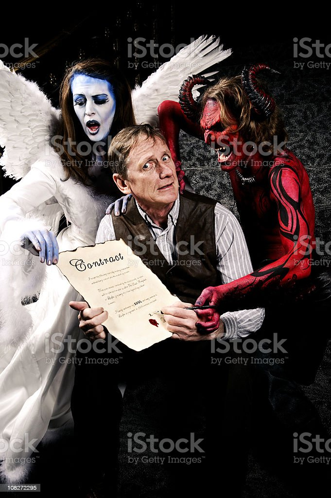 Deal with the Devil royalty-free stock photo