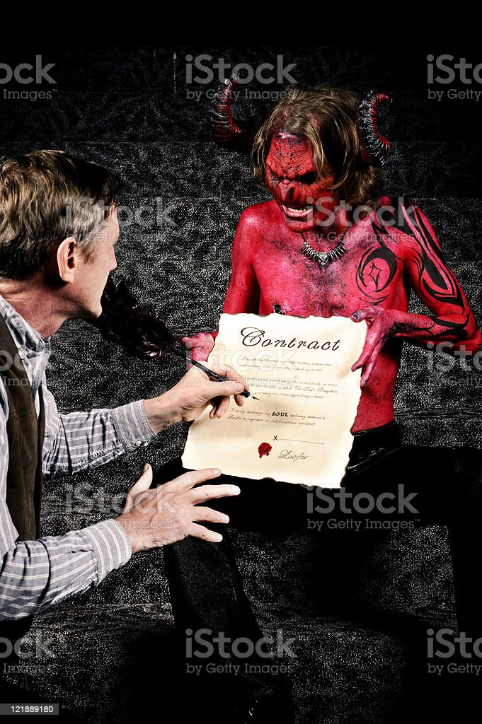 Deal with the Devil stock photo