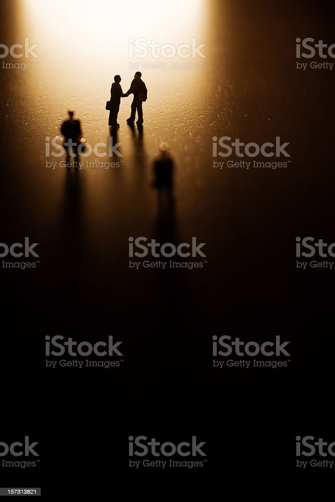 Deal with the Mafia royalty-free stock photo