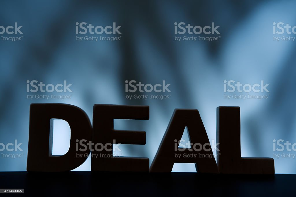 Deal, wood letter word royalty-free stock photo