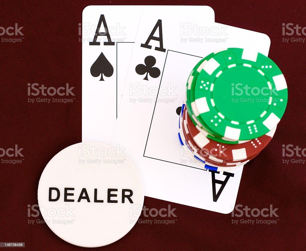 Dealer button royalty-free stock photo
