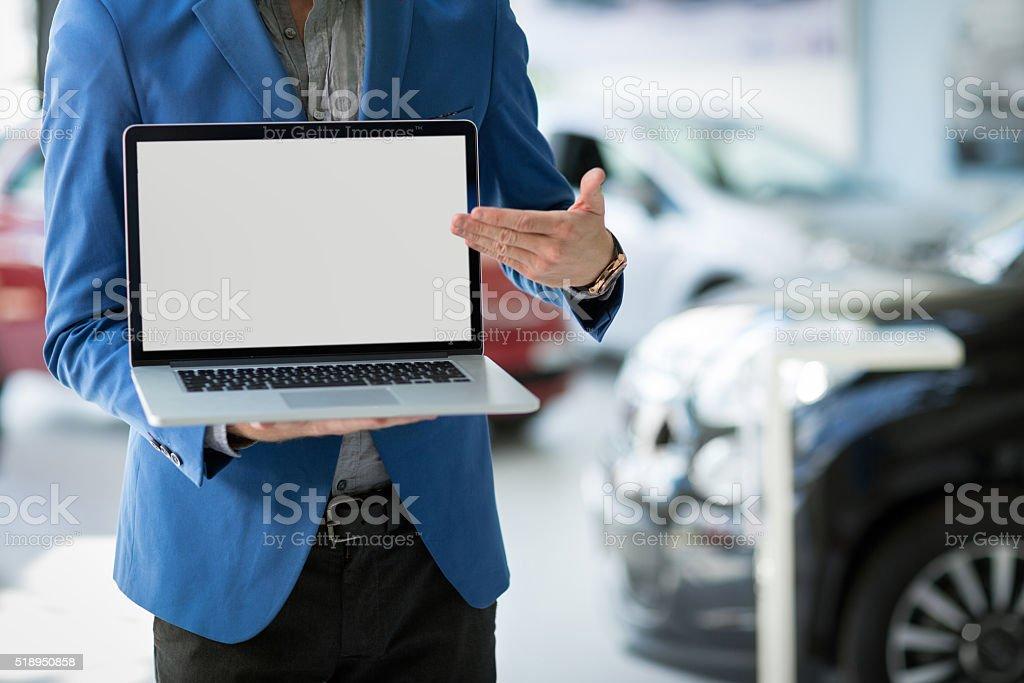 dealer car shows the best offer stock photo