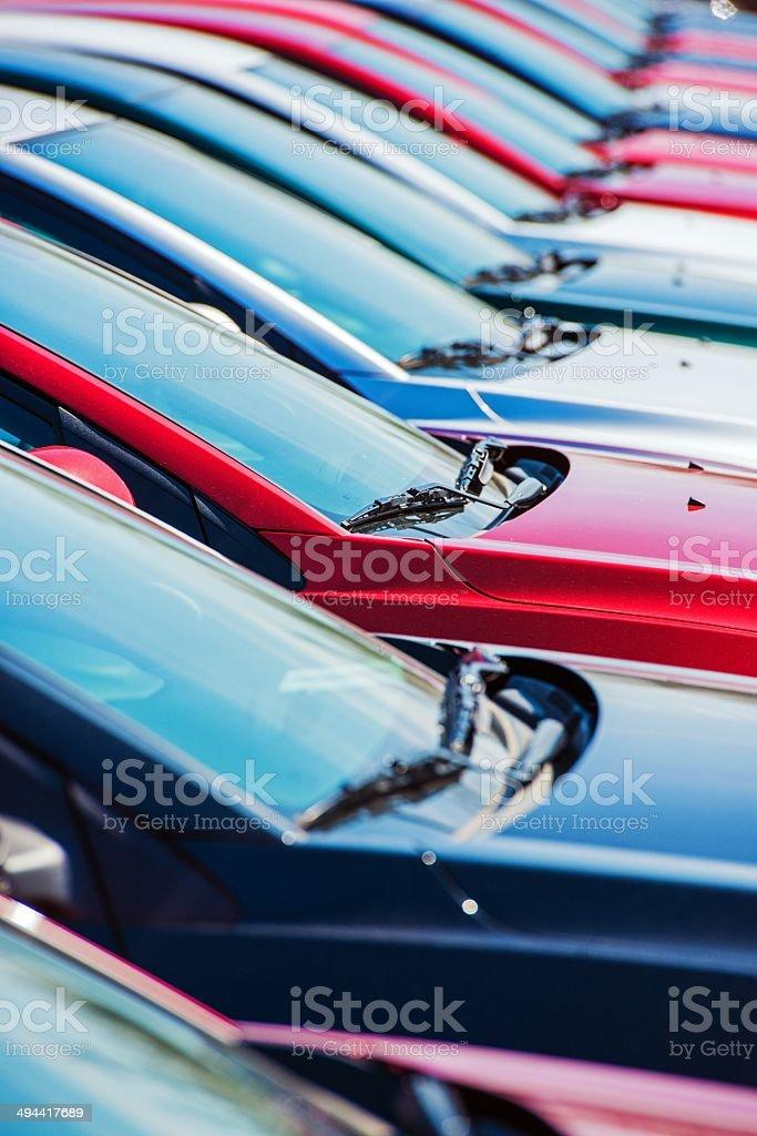 Dealer Car Stock stock photo