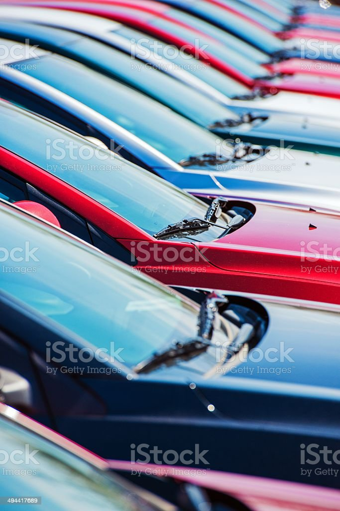Dealer Car Stock stock photo