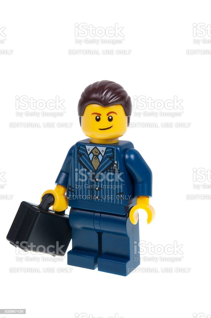 Dealer Lego Minifigure stock photo