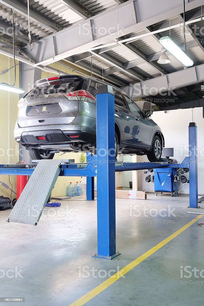 dealer repair station stock photo