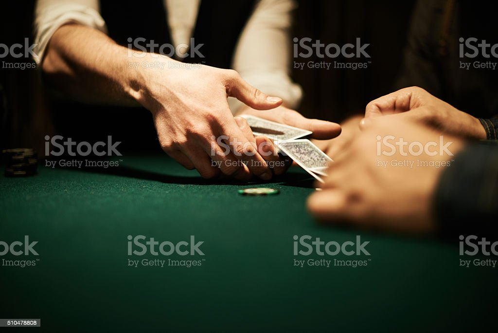 Dealer'€™s hands stock photo