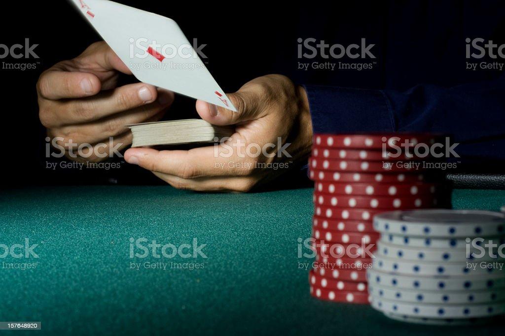 Dealing an Ace stock photo