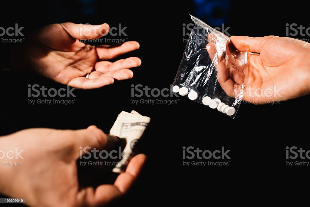 Dealing drugs stock photo