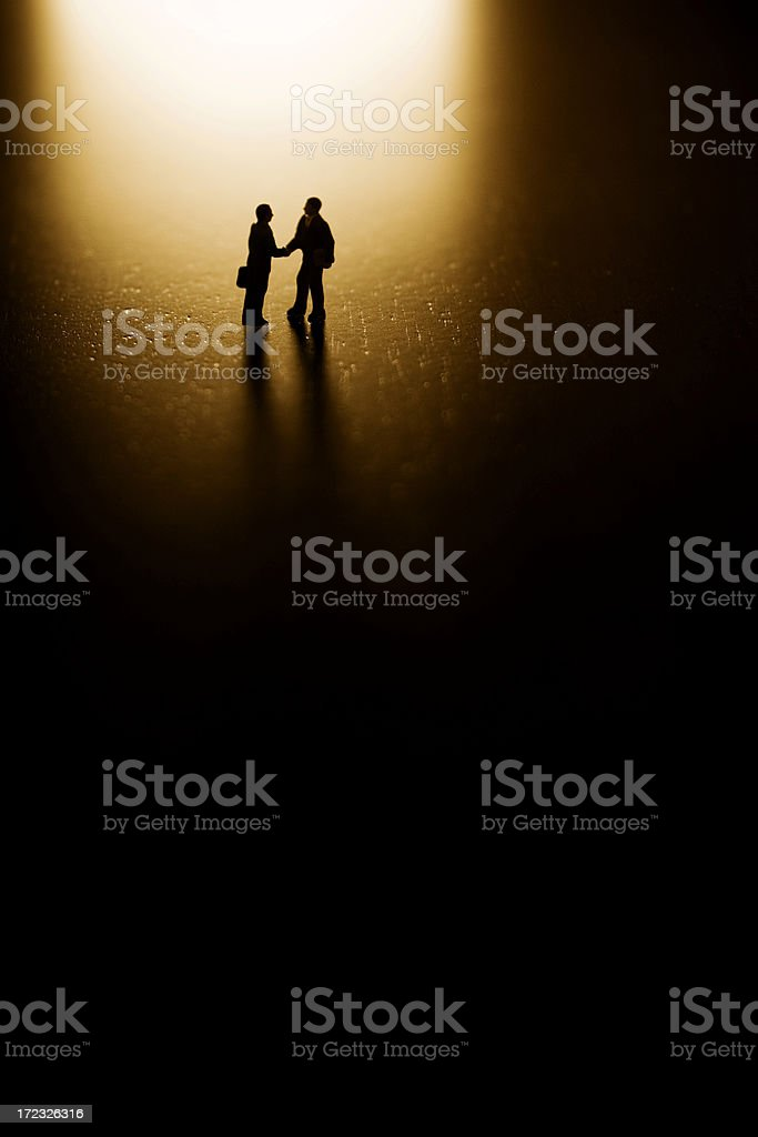 Dealing in the Dark royalty-free stock photo