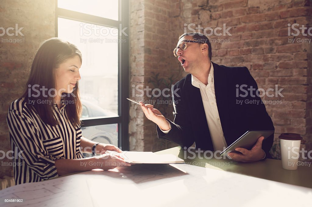 Dealing With A Bad Boss stock photo