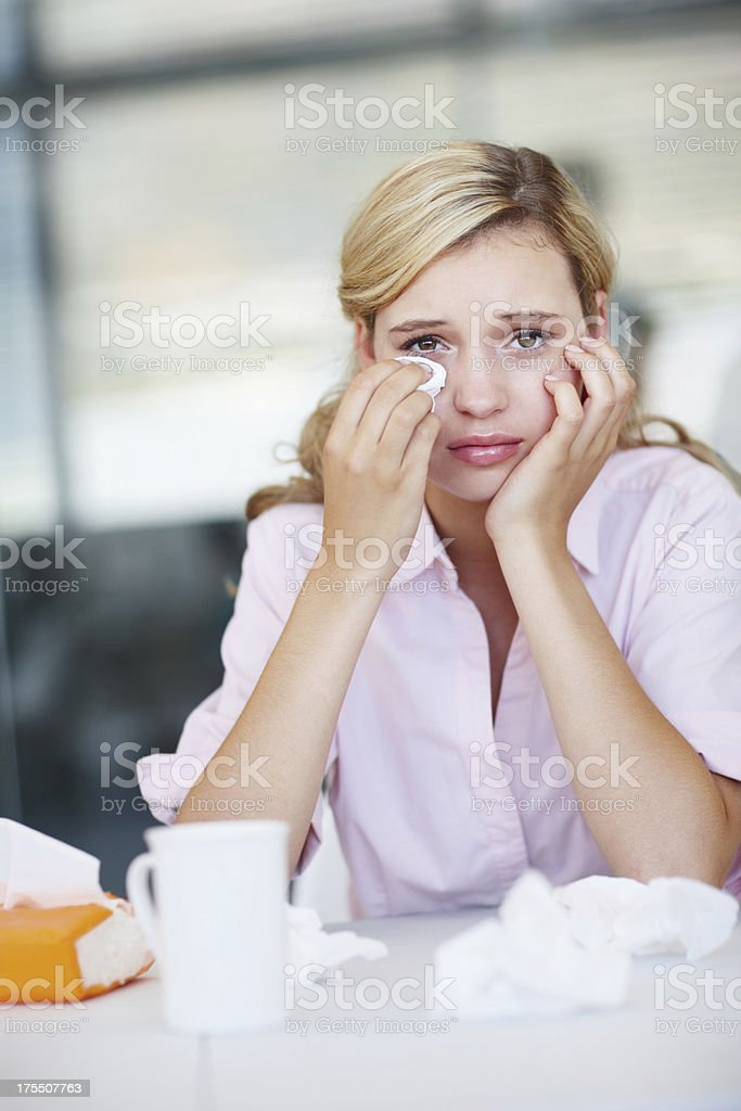 Dealing with loss stock photo