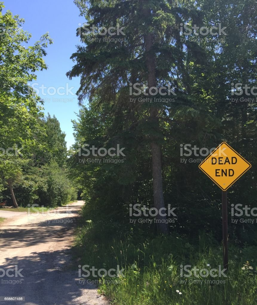 Dean End Sign stock photo