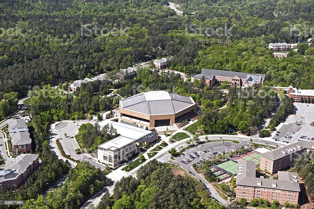 Dean Smith Center - Aerial View stock photo