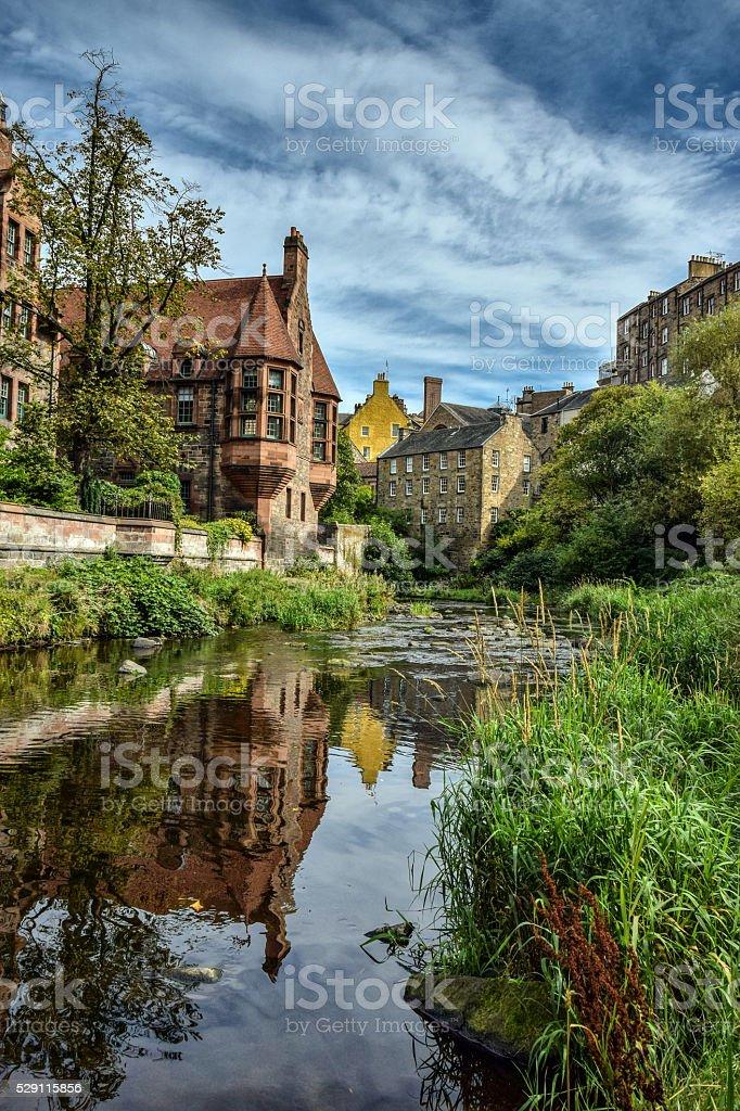Dean Village Edinburgh stock photo