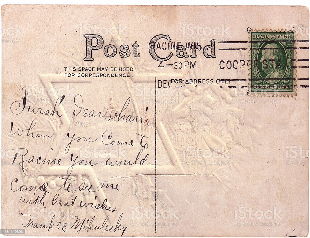 Dear Charley-Vintage postcard 1911 stock photo