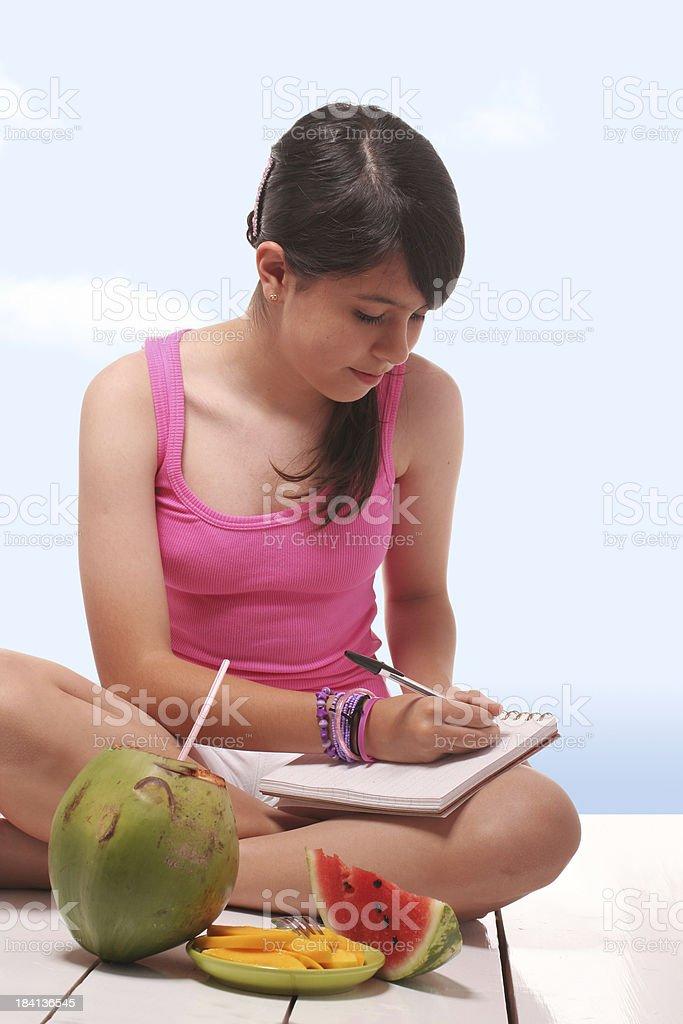 Dear Diary... I Love Summer royalty-free stock photo