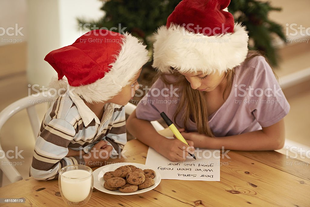 Dear Father Christmas... stock photo