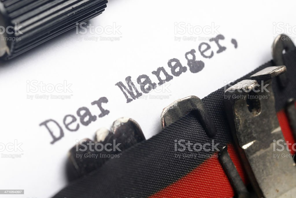 Dear Manager royalty-free stock photo