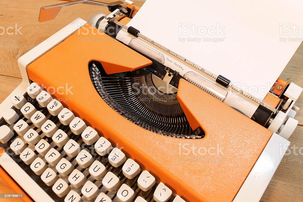 Dear Santa on Typewriter stock photo