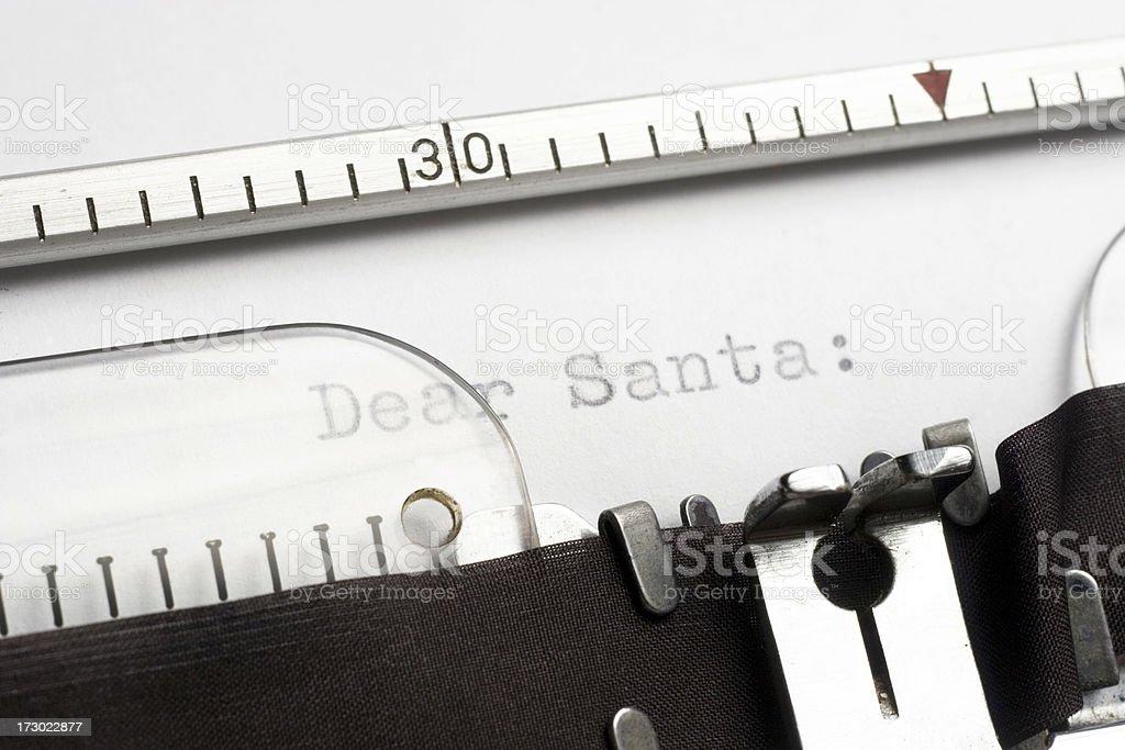 Dear Santa. royalty-free stock photo