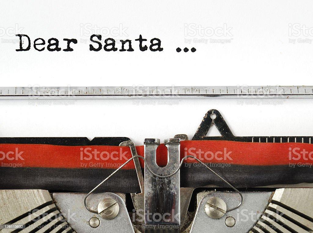 Dear Santa royalty-free stock photo