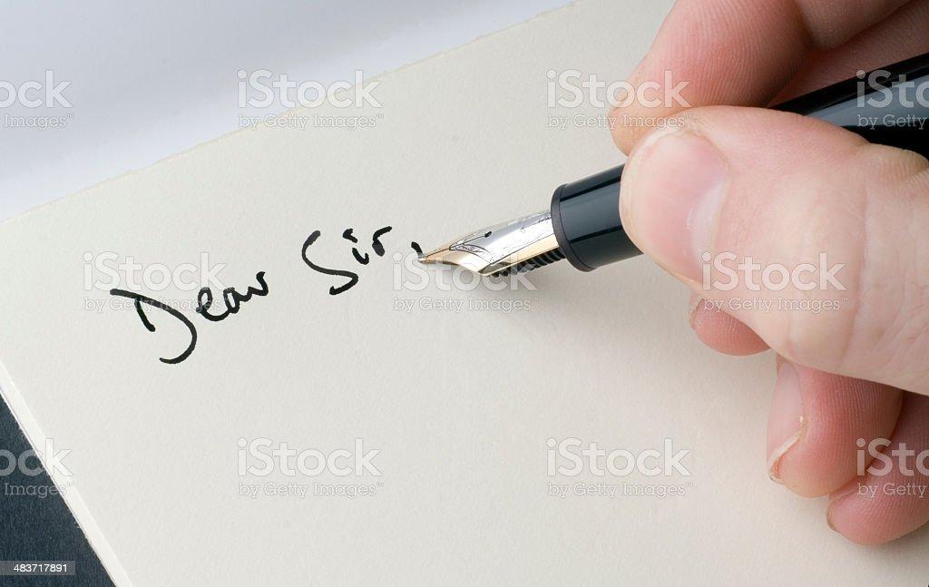Dear Sir - Letter Head royalty-free stock photo