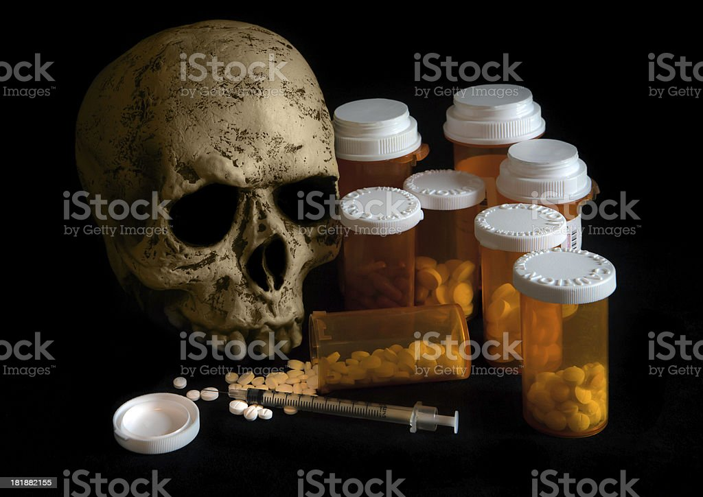 death and drugs royalty-free stock photo