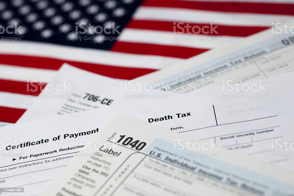 Death and Taxes stock photo