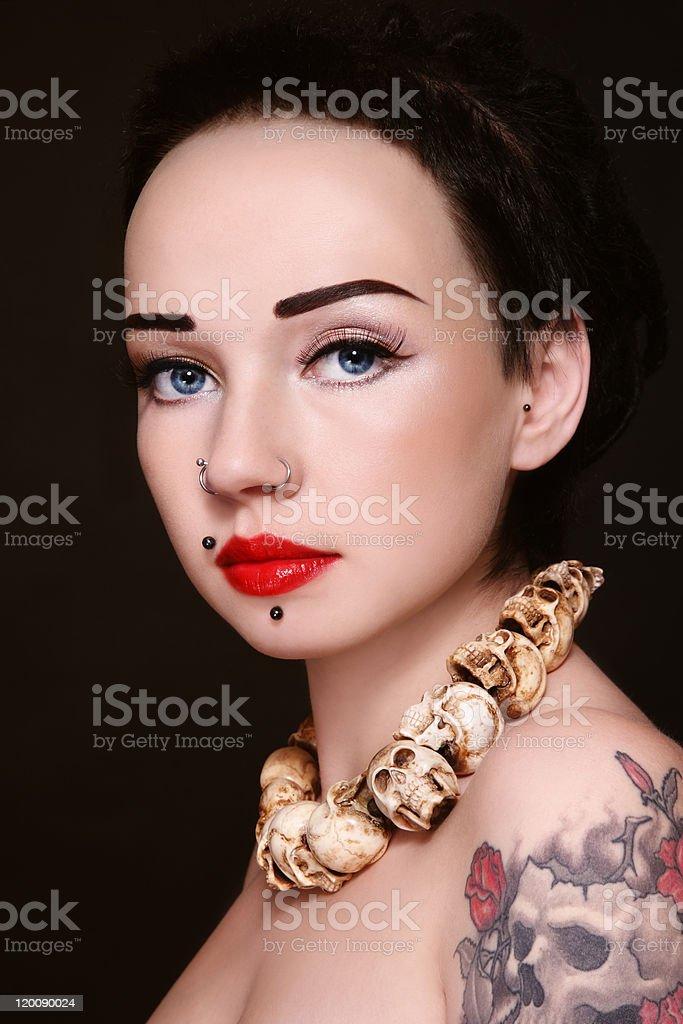 Death beauty royalty-free stock photo
