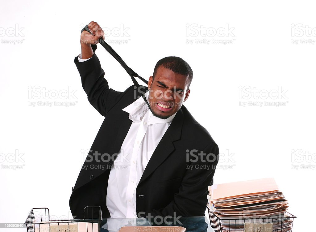 Death by overworking stock photo