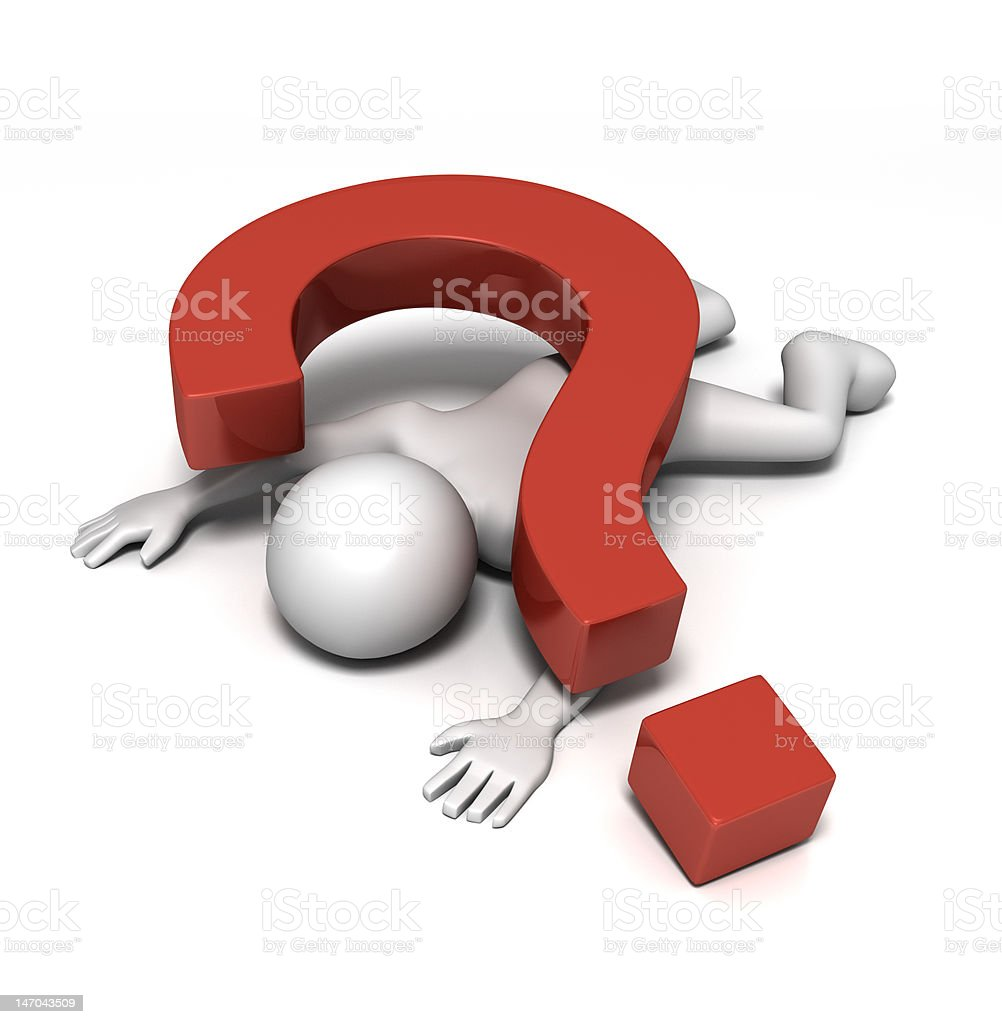Death by Question stock photo