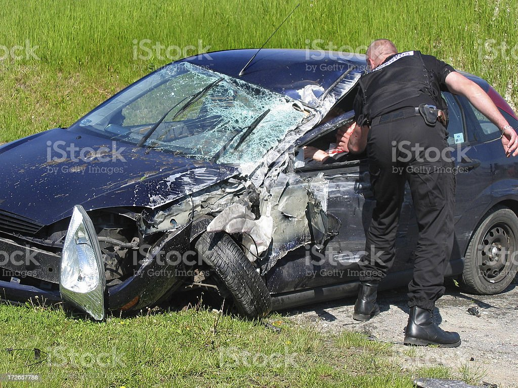 Death drives fast (1) stock photo