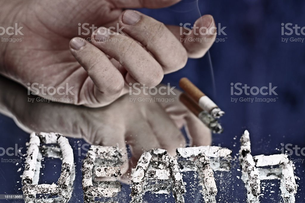 Death from cigarette royalty-free stock photo